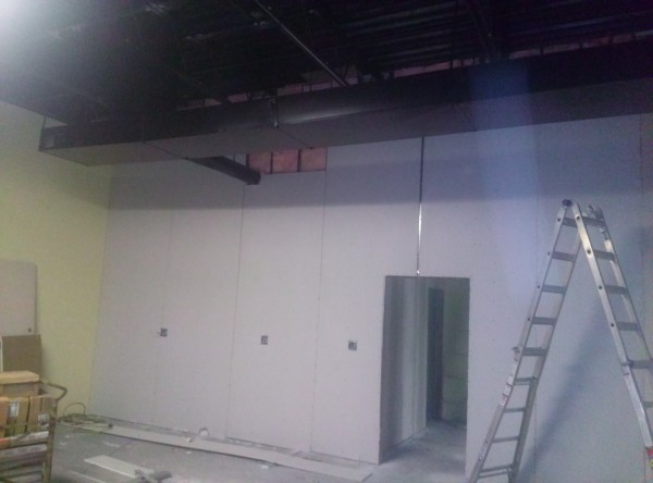 Taproom construction 2